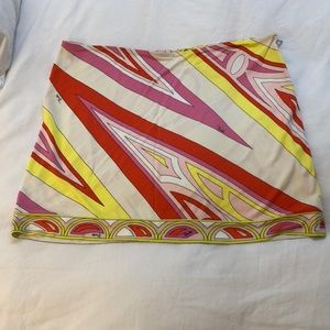 authentic pucci mini skirt size large/10